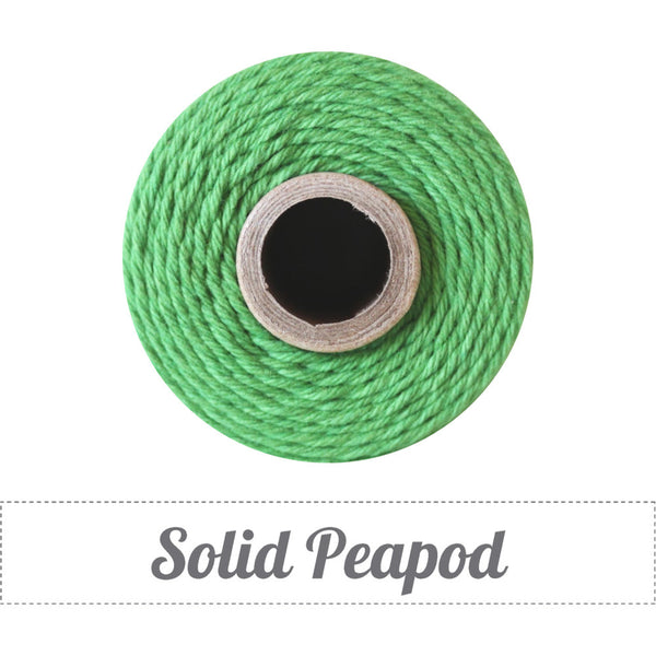 Bakers Twine - Solid Peapod Green Spool