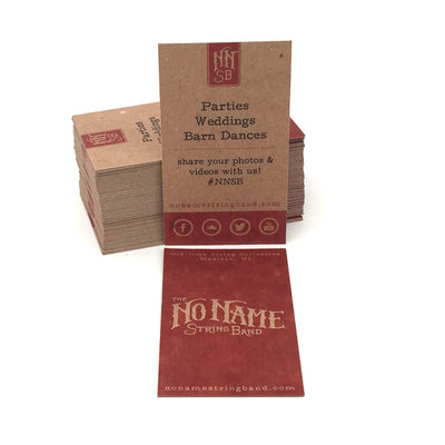 Recycled chipboard business cards guided recycled business cards front and back print on brown kraft colourmoves