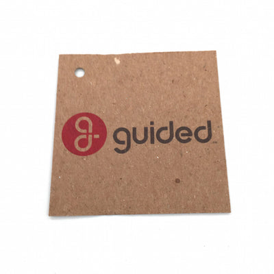 Brown Kraft Hang Tags - Guided Logo
