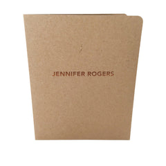 Foil Stamped Presentation Folders - RePocket - Brown Kraft 2 Pocket Folder,