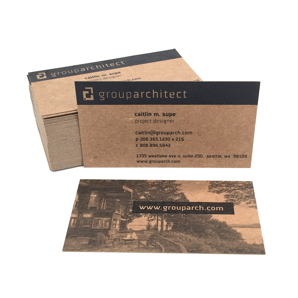 Recycled Chipboard Business Cards Guided