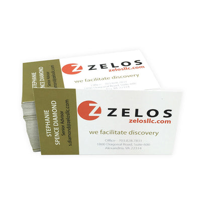 Recycled Business Cards Full Color - Natural White Stock