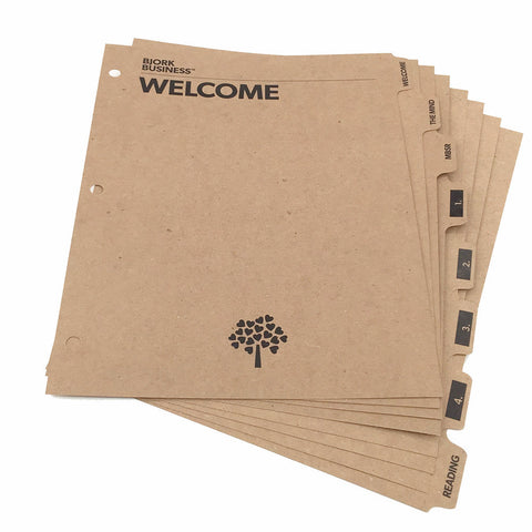 Custom Printed Binder Dividers - ReTab 8-Tab