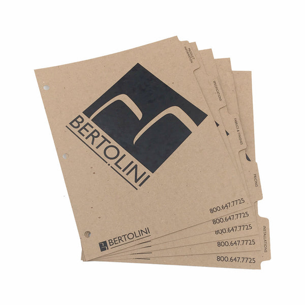 Custom Printed Binder Dividers - ReTab 5-Tab - Digital Print