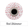 Bakers Twine - Twisted Red Shimmer and Natural Twine Spool - Shimmer and Bright