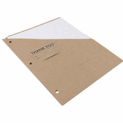 Binder Pockets - RePouch - Brown Kraft, with or without CD Slot