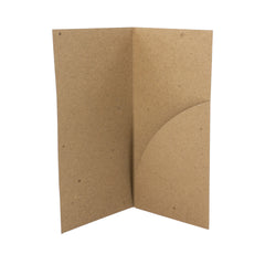 Small Pocket Folders - RePocket - Brown Kraft, 20 pt chipboard