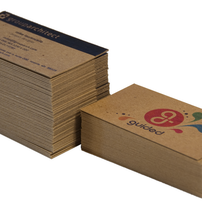Thick Recycled Business Cards - Twice the Thickness, 40pt chipboard