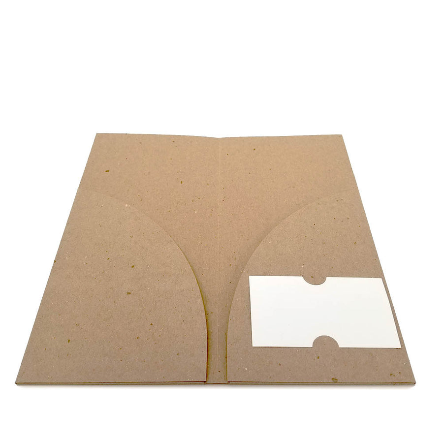 Recycled Brochure Pocket Folder - Two Pocket