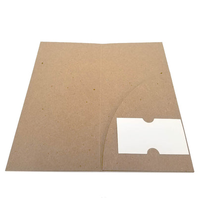 Recycled Brochure Folder - Single Pocket
