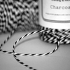 Bakers Twine - Twisted Charcoal Black and White Twine Spool - Perfect for hang tags & gift tags