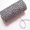 Bakers Twine - Twisted Charcoal Black and White Twine Spool - Classic Black and White