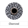 Bakers Twine - Twisted Charcoal Black and White Twine Spool - 100% Cotton, Made in USA