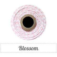 Bakers Twine - Twisted Blossom Pink and White Twine Spool - Pink and White