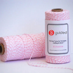 Bakers Twine - Twisted Blossom Pink and White Twine Spool - Perfect for those Baby Shower details