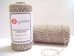 Bakers Twine - Twisted Cappuccino Brown and White Twine Spool - 4-Ply Cotton