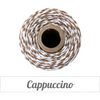 Bakers Twine - Twisted Cappuccino Brown and White Twine Spool - 240 Yard Spool