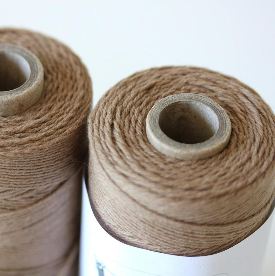 Bakers Twine - Solid Cappuccino Brown Twine Spool - 4-Ply Cotton Twine