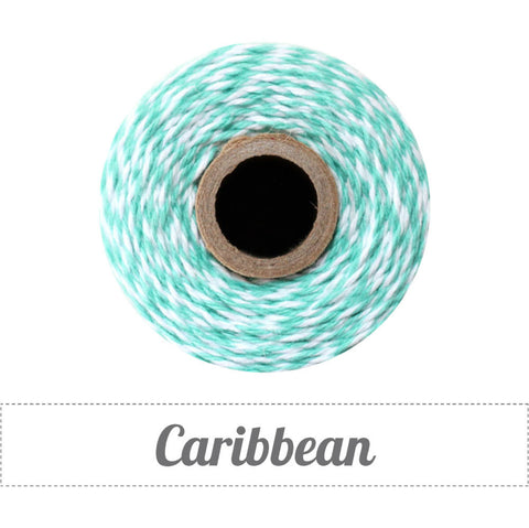 Bakers Twine - Twisted Caribbean Blue and White Twine