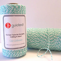 Bakers Twine - Twisted Caribbean Blue and White Twine - Perfect for your beach vacation scrapbook