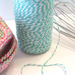 Bakers Twine - Twisted Caribbean Blue and White Twine - Pair with our other beautiful colors