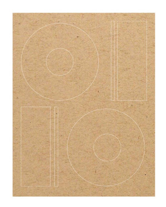picture about Printable Cd Labels named CD Labels - Brown Kraft