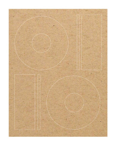 CD Labels - Brown Kraft