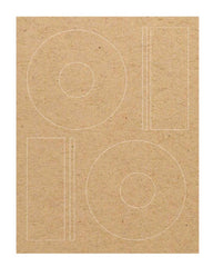 CD Labels - Brown Kraft - Die cut labels