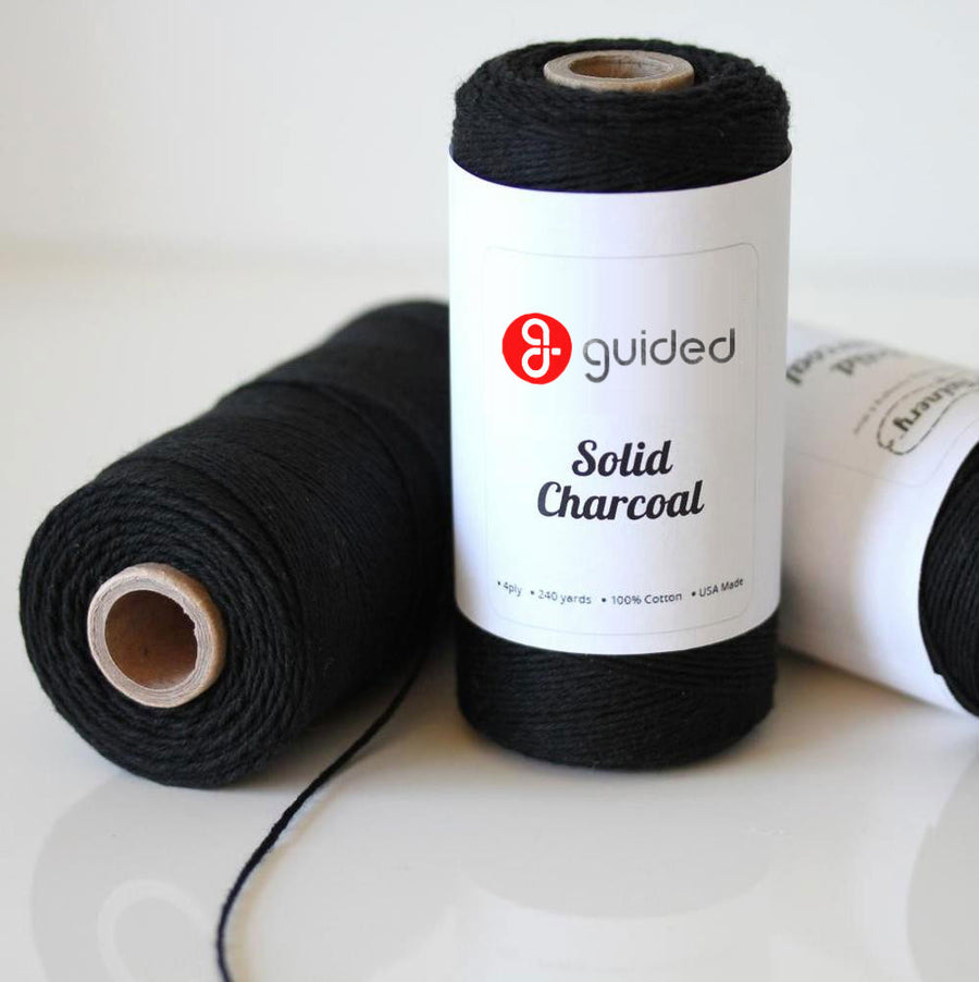 Bakers Twine - Solid Charcoal Black Twine Spool - Classic touch to your projects