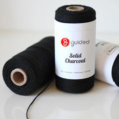 Bakers Twine - Solid Charcoal Black Twine Spool - Wrap up Halloween treat bags with our Black Twine