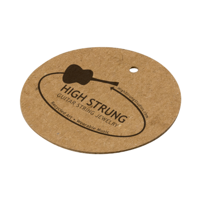 Custom Round Hang Tags - Brown Kraft 16 pt Chipboard