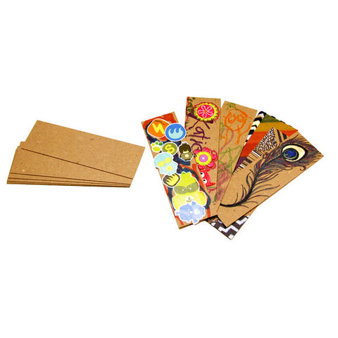 Brown Kraft Bookmarks - 1.5