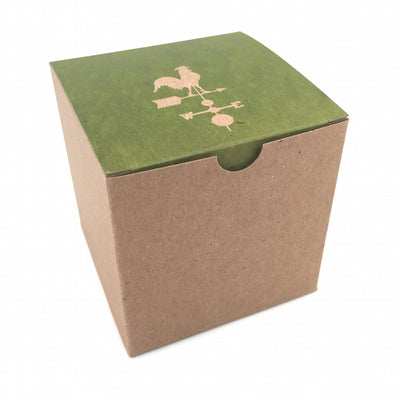 Custom Printed Recycled Gift Boxes 4x4x4 - Brown Kraft