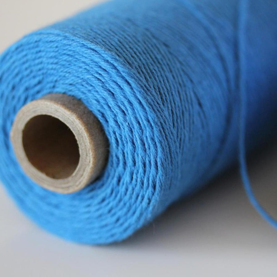 Bakers Twine - Solid Denim Blue Twine Spool -  American made, Denim