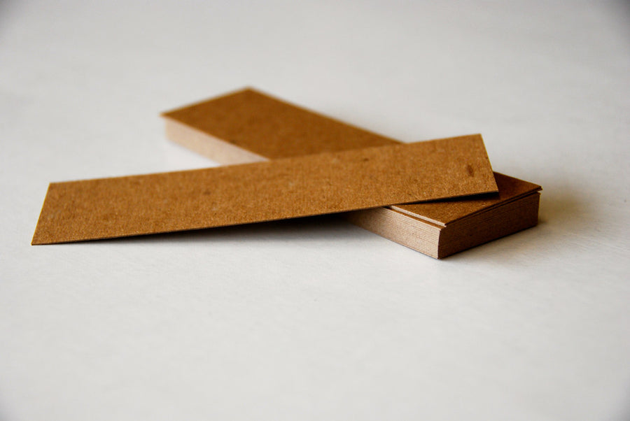 "Brown Kraft Bookmarks - 1.5"" x 5"" (50 pack) - Guided  - 1"