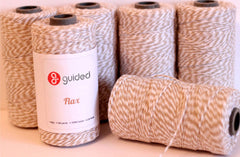 Bakers Twine - Twisted Flax Light Khaki and White Baker's Twine - Perfect for Scrap-booking