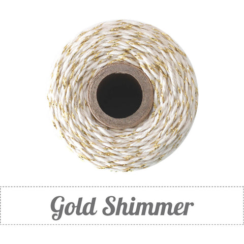 Bakers Twine - Twisted Shimmer Gold and White Twine Spool