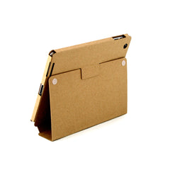 Recycled Cardboard iPad Cases - Brown Kraft (3 pack) - Locking Stand