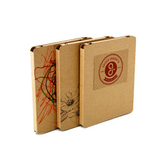Recycled Cardboard iPad Cases - Brown Kraft (3 pack) - Custom Design your Tablet Case