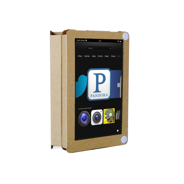 Recycled Cardboard Kindle Fire Cases - Brown Kraft (3 pack)