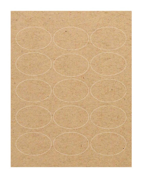 Kraft Labels - Brown Oval (2.5