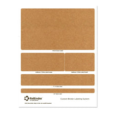 "1"" ReBinder Select Recycled Binders - Binder Label System"