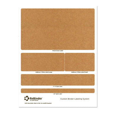 "1.5"" ReBinder Original Recycled Binders - Binder Label System"