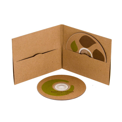 CD Labels - Brown Kraft - Customize with our templates and your printer