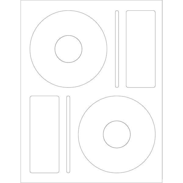 CD Labels - White