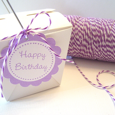 Bakers Twine - Twisted Lilac Purple and White Twine Spool - Perfect partner for your gift tags