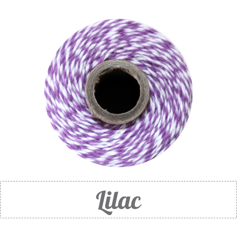 Bakers Twine - Twisted Lilac Purple and White Twine Spool