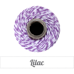 Bakers Twine - Twisted Lilac Purple and White Twine Spool - Finishing touch to your homemade gifts