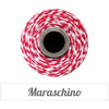 Bakers Twine - Twisted Maraschino Red and White Twine Spool - Bright and sassy
