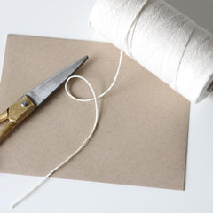 Bakers Twine - Solid Natural White Twine Spool - Looks great on our Brown Kraft products